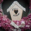 ROzsaszín ROmantikus SZArkaláb ajtó-lakás dísz, Baba-mama-gyerek, Dekoráció, Otthon, lakberendezés, Dísz, Virágkötés, Mindenmás, Nagyon romantikus színe,apró virága van a kerti szarkalábnak és...szárítható,kiválóan állja a színét..., Meska