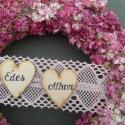 Vintage szarkaláb ajtódísz,kopogtató, Dekoráció, Otthon, lakberendezés, Esküvő, Dísz, Virágkötés, Romantikus,rózsaszín sok árnyalatát kínáló szárított szarkaláb,rózsaszín cérnacsipkével,szíves édes ..., Meska