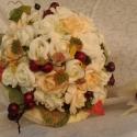 Csipkés-rózsás menyasszonyi csokor, Esküvő, Esküvői csokor, Virágkötés, Az őszi menyasszonyokra gondoltam,amikor megálmodtam ezt a csokrot.Nem a harsány narancssárga,vörös,..., Meska