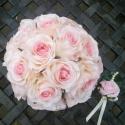 Tabitha rózsa-menyasszonyi csokor, Esküvő, Esküvői csokor, Virágkötés, Nagyon megtetszett ez a finoman árnyalt rózsaszín rózsa.Tömör csokorba kötöttem.Gondoltam,nem zavar..., Meska