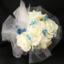 Emily dobó csokor, Esküvő, Esküvői csokor, Virágkötés, A kék menyasszonyi csokorhoz készült dobó csokor. Ha Neked is tetszik,kérheted rózsaszínnel,ekrüvel..., Meska