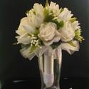 Ártatlan tavasz-menyasszonyi csokor, Esküvő, Esküvői csokor, Virágkötés, Majd megszólalt a tulipán... A pici bimbók... A rózsa... Mindet csokorba kötöttem,lazán,üdítő tavas..., Meska