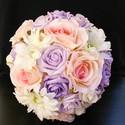 Lilarosa 2, Baba-mama-gyerek, Esküvő, Esküvői csokor, Virágkötés, Külömböző árnyalatú ,anyagú és jellegű virágokból kötöttem ezt a csokrot,mellyel egy kedves ,drága ..., Meska