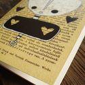 """Füzet, notesz, Moha notesz, saját grafikámmal, sima, recycle lapokkal, """"Szivi"""", Képzőművészet , Képeslap, album, füzet, Grafika, Jegyzetfüzet, napló, naptár, Fotó, grafika, rajz, illusztráció, Papírművészet, Művészi notesz, a borítón saját grafikámmal.  Mérete: 9,5 cm x 14 cm Borító: 250 g Rives karton Bel..., Meska"""