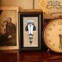 Bajusz Őr: A békés otthon védelmezője, Szignózott, keretezett nyomat, 6cm x11 cm, Képzőművészet, Férfiaknak, Illusztráció, Sör, bor, pálinka, Fotó, grafika, rajz, illusztráció, Mindenmás, Jópofa kép a békés otthon kedvelőinek. Saját grafikámmal. Hátoldalán használati utasítással.  Jópof..., Meska