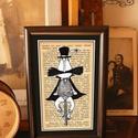 Bajusz Őr: A békés otthon védelmezője, Szignózott, keretezett nyomat, 10cm x16 cm, Képzőművészet, Férfiaknak, Illusztráció, Bringás kiegészítők, Fotó, grafika, rajz, illusztráció, Mindenmás, Reprodukció, print saját grafikámról, kerettel együtt. A keret hátoldalán használati utasítással. L..., Meska