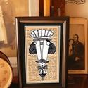 Bajusz Őr: A békés otthon védelmezője, Szignózott, keretezett nyomat, 10cm x16 cm, Otthon, lakberendezés, Képzőművészet, Grafika, Illusztráció, Fotó, grafika, rajz, illusztráció, Mindenmás,  Bajusz Őr A békés otthon védelmezője  Arra ügyel, hogy senkivel ne akaszd össze a bajuszt:)  Haszn..., Meska