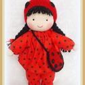Katica baba - megrendelésre készítem, Baba-mama-gyerek, Játék, Baba játék, Játékfigura, Baba-és bábkészítés, Horgolás, 26 cm A babuci ruhácskája levehető, a sapkája rögzített.  , Meska