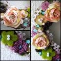 Shabby chic romantika ... vintage, dekoráció, ajtódísz, Dekoráció, Otthon, lakberendezés, Dísz, Ünnepi dekoráció, Virágkötés, A dísz alapját fűzfaágakból készítettem. Zuzmóval, erdei mohával, barack  papír rózsával díszítette..., Meska
