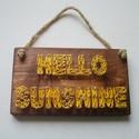 Hello Sunshine fonal grafika, Dekoráció, Kép, , Meska