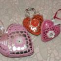 Pink horgolt szív alakú dekoráció, Karácsonyi dísz, Dekoráció, Karácsonyi, adventi apróságok, Ünnepi dekoráció, Karácsonyfadísz, Horgolás, Romantikus és különleges horgolt szív alakú dísz, pink színben. Azoknak ajánlom akik szeretik maguk..., Meska