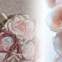 Romantikus ekrü-rózsaszín menyasszonyi csokor, Esküvő, Dekoráció, Dísz, Esküvői csokor, Horgolás, Virágkötés, Egy kedves barátom felkérésére készítettem, ezt a romantikus stílusú különleges csokrot. Szívesen e..., Meska