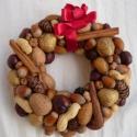 őszi-téli terméskoszorú, Dekoráció, Otthon, lakberendezés, Dísz, Ünnepi dekoráció, , Meska