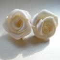Hamvas rózsa  - romantikába hajló stiftes füli :o), Ékszer, óra, Fülbevaló, Ezt a fülit ElevenKriszta felhasználónak készítettem, kérlek ne vedd el tőle.  Ha szeretnél ..., Meska