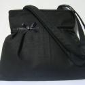 Óóóóriási Kedvezmény  a kifutó táskákra !!!!! Elegáns fekete lenvászon táska-rendelhető, Mindenmás, Táska, Ruha, divat, cipő, Varrás, Ő már elkelt, de tudok még hasonlót készíteni! :)  Fekete lenvászonból készült ez a táskám, dísznek..., Meska