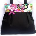 Óóóóóriási kedvezmény  a kifutó táskákra!! Virágfelhők feketével :), Táska, Ruha, divat, cipő, Varrás, ÓRIÁSI KEDVEZMÉNY!!!!!!!!!! RÉSZLETEK BOLTUNK OLDALÁN! NE HAGYD KI :))  Ez a gyönyörűséges virágos ..., Meska