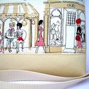 City Bag Mini : Shopping in Paris, Táska, Ruha, divat, cipő, Baba-mama-gyerek, Varrás, Ahogy ígértem, jönnek a tesók is :)   Beige textilbőrből készült ez a kis oldaltáska, elejére egy b..., Meska
