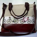 ÚJ KOLLEKCIÓ: City bag  XXL : Biciklik, Táska, Ruha, divat, cipő, Varrás, Kedvenc városba járós,rohangálós táskáim többsége ilyen, ők adták az ihletet: igazi jó nagy pakolós..., Meska