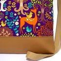 City Bag Midi : Elvarázsolt erdő :), Táska, Ruha, divat, cipő, Varrás, Közkívánatra mostantól lesznek közepes méretű táskák is ebből a típusból :)  Ez a táska tejeskávé s..., Meska