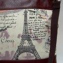 City bag  XXL :  Paris Mon Amour 6.- MOST NAGYON KEDVEZMÉNYESEN!!!, Táska, Ruha, divat, cipő, Varrás, AKCIÓ!! 6990 FT HELYETT MOST 5990 FT !!!!!!  Kedvenc városba járós,rohangálós táskáim többsége ilye..., Meska