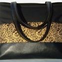 City bag :Aranyló elegancia 2., Táska, Ruha, divat, cipő, Varrás, Kedvenc városba járós,rohangálós táskáim többsége ilyen, ők adták az ihletet: igazi jó nagy pakolós..., Meska