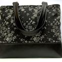 City bag : Farmer virágok, Táska, Ruha, divat, cipő, Varrás, Kedvenc városba járós,rohangálós táskáim többsége ilyen, ők adták az ihletet: igazi jó nagy pakolós..., Meska