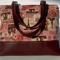 CITY  BAG:  Vintage hangulatú táska barna bőrrel, Táska, Ruha, divat, cipő, Mindenmás, Varrás, KÉSZLETEN VAN, NEM KELL RÁ VÁRNI :)  Kedvenc városba járós,rohangálós táskáim többsége ilyen, ők ad..., Meska