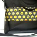 ÚJ KOLLEKCIÓ: City bag  XXL : Funny faces, Táska, Ruha, divat, cipő, Varrás, Kedvenc városba járós,rohangálós táskáim többsége ilyen, ők adták az ihletet: igazi jó nagy pakolós..., Meska