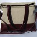 City Bag XL Plus No 4., Táska, Ruha, divat, cipő, Varrás, Ez a táska a nagy sikerű XL fazon újabb változata, igazi 2in1 táska: egyrészt 2 féle méretűre lehet..., Meska