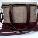 City Bag XL Plus No 6., Táska, Ruha, divat, cipő, Varrás, Ez a táska a nagy sikerű XL fazon újabb változata, igazi 2in1 táska: egyrészt 2 féle méretűre lehet..., Meska