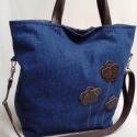 Shopping-bag SH03, Táska, Szatyor, Válltáska, oldaltáska, Bőrművesség, Varrás, Vászon, kord vagy farmer anyagból készültek ezek a fiatalos, nagyméretű táskák.  Reggel munkába men..., Meska