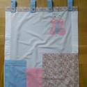Hatalmas textil zsebes tároló kicsi lánykáknak, Baba-mama-gyerek, Baba-mama kellék, Gyerekszoba, Falvédő, takaró, Varrás, Pillangós zsebes tároló praktikus zsebekkel, több funkcióval.  100% pamutból készítettem ezt a zseb..., Meska