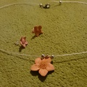 Cserép ékszer szett-virágos , Ékszer, óra, Ékszerszett, Ékszerkészítés, Kerámia, Égetett agyag medálokból készített ékszer szett.A fülbevalók bedugósak, orvosi fémből készült 1cm h..., Meska