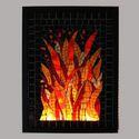 Tűz - üvegmozaik falikép világítással, Dekoráció, Otthon, lakberendezés, Lámpa, Falikép, , Meska