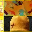 Woodland-Orange Babasapi, Ruha, divat, cipő, Kendő, sál, sapka, kesztyű, Sapka, Varrás, Ez a pici babasapka újszülötteknek készült, úgynevezett 00-ás méret, késő őszi, téli viseletre.  Bel..., Meska