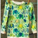 Elefántok - Kisgyermek felső, vagy pizsama felső, Baba-mama-gyerek, Ruha, divat, cipő, Gyerekruha, Varrás, A vidám gyermekkornak kellékei lehetnek a vidám textilek is!  Rugalmas pamut jerseyből készítettem, ..., Meska