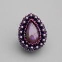 Labradoritos gyöngyhízett gyűrű - 4, Ékszer, óra, Képzőművészet , Gyűrű, Ékszerkészítés, Gyöngyfűzés, Gyönyörű labradorit ásvánnyal készítettem ezt a gyűrűt.  Rendkívül elegáns.  Swarovski pearl gyöngy..., Meska
