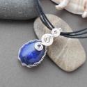 """""""Kék-ezüst szerelem""""-apró lápisz lazuli medál+ ajándék, Ékszer, óra, Medál, Ékszerkészítés, Fémmegmunkálás, Aprócska lápisz lazulit foglaltam be ezüstözött rézdróttal. A kész medál akasztóval együtt is csupá..., Meska"""