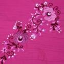 Vékony gyűrt puplin - csupa rózsaszín, Ruha, divat, cipő, Magyar motívumokkal, Női ruha, Hímzés, Varrás, Elegáns, körsál nőknek  ¤ pamut gyűrt puplin,  ¤ kézzel hímzett ¤ több színű - hagyományos minta ¤ ..., Meska