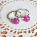 Pink pötty kislány gyűrű, Ékszer, óra, Ruha, divat, cipő, Baba-mama-gyerek, Gyűrű, Ékszerkészítés, Üvegművészet, 2 db kislány gyűrű, mely Kata egyéni megrendelésére készült.  A gyűrűk feje pink üvegből készült, f..., Meska