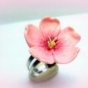 Cseresznyevirág gyűrű  TAVASZI AKCIÓ -10 % KEDVEZMÉNY, Ékszer, óra, Gyűrű, Ékszerkészítés, Gyurma, Cseresznyevirág gyűrű   Íme itt a tavasz..., ha szereted ezt a pompás és szép virágot..akkor most a..., Meska