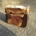 Csokis-fahéjas-narancsos szappan, Szépségápolás, Szappan, tisztálkodószer, Kecsketejes szappan, Szappankészítés, Ünnepi hangulatú, kényeztető kecsketejszappant készítettem sok csokival, fahéjjal, friss 100 %-os n..., Meska