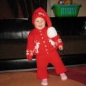 Mikulás garnitúra, Baba-mama-gyerek, Ruha, divat, cipő, Gyerekruha, Kisgyerek (1-4 év), Kötés, Gyapjú, műszál  fonalból készítettem ezt a bűbájos  garnitúrát kis unokámnak 2 éve. Mivel közeleg a..., Meska