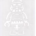 Lego mintájú tortadíszítő sablon 3 db, stencil, Star Wars, L. Movie, Baba-mama-gyerek, Konyhafelszerelés, Mindenmás, Gyerekszoba, Mindenmás, Átlátszó fóliából kézzel készítettem (spirálozó előlapból) a stencil sablont! Méretei: Lego Star Wa..., Meska