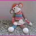 Kislány majom (Rendelésre), Baba-mama-gyerek, Játék, Baba-mama kellék, Játékfigura, Horgolás, Varrás, Ovis gyerekeknek, kislányoknak ajánlom ezt a pici lányka majmot, kedves játszótársuk, vagy alvótárs..., Meska