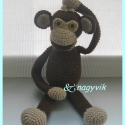 Mókás majom (Rendelésre), Baba-mama-gyerek, Játék, Baba-mama kellék, Játékfigura, Horgolás, Varrás, Ovis gyerekeknek ajánlom ezt az aranyos majmot, kedves játszótársuk, vagy alvótársuk lehet.  Kérhete..., Meska