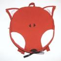 Róka hátizsák /rókás gyerek hátizsák (vörös róka), Táska, Hátizsák, Varrás, Róka hátizsák kisgyerekeknek.  Egy cipzárral záródik. Pántjai állíthatóak.  Méretei: 27 cm széles,  ..., Meska