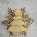 Karácsonyfa szappan, Baba-mama-gyerek, Szépségápolás, Szappan, tisztálkodószer, Natúrszappan, Bőrápoló szappan ünnepi illatokkal.  Lucfenyő, narancs, szegfűszeg és gyömbér illóolajjal.  Csak 100..., Meska