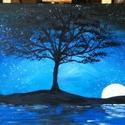 A magányos fa - akril festmény, Otthon, lakberendezés, Képzőművészet , Festmény, , Meska