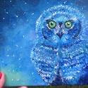 Kis kékség , Képzőművészet, Festmény, Akril, Festészet, A kedvenc madaram a kedvenc színeimmel. <3 20*20-as feszített vászonra akril festékkel festett képe..., Meska